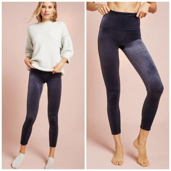 4b4b70bf8a919 Anthropologie Pants | Nwt Spanx Velvet Leggings Xs Slate | Poshmark